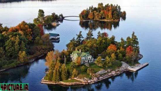 عکس خانه های زیبا وسط دریا