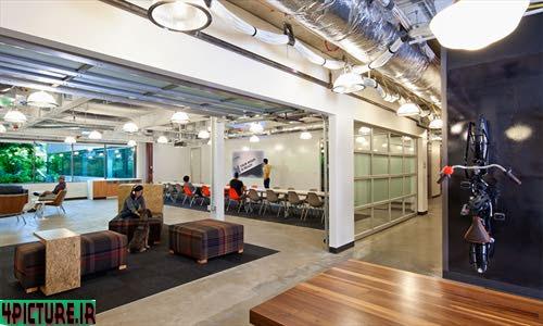 عکس های فضای داخلی ساختمان شماره ۴ مایکروسافت   این ساختمان در منطقه ردموند و در شهر واشنگتن واقع شده است . ساختمان شماره ۴ و طراحی داخلی آن با همکاری شرکت طراحی O + A و شرکت مایکروسافت طراحی شده است .