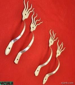 عکس اثر هنری ساخته شده با چنگال