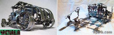 خلق اثار هنری با چنگال