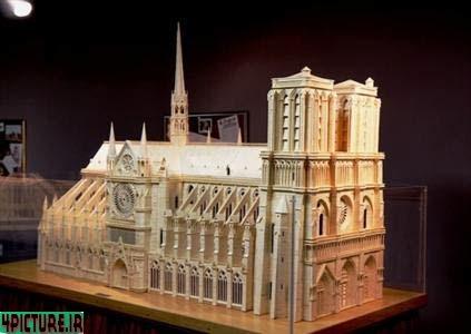 عکس اثار هنری با چوب کبریت